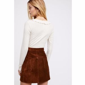Free People Skirts - Free People Suede Mini Skirt Understated Leather